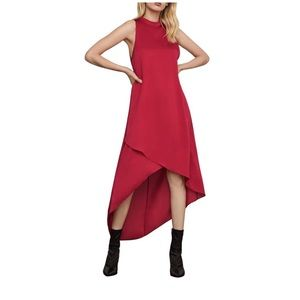 BCBGMaxAzria Red Flowing Elegant Midi Dress